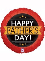 """Happy Father's Day Red & Gold 18"""" Foil Balloon"""