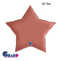 """Grabo Satin Rose Gold 36"""" Star Foil Balloon"""