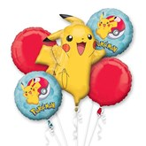 Pokemon 5 Piece Foil Balloon Bouquet