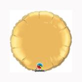 """Metallic Gold 9"""" Round Foil Balloon"""