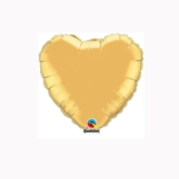 "Metallic Gold 4"" Heart Foil Balloon"