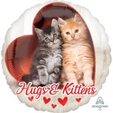 """Avanti Hugs & Kittens Valentine's 18"""" Foil Balloon"""