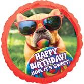 "Sweet Happy Birthday Dog 28"" Foil Balloon"