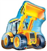 "Yellow JCB Digger 32"" Giant SuperShape Balloon"