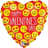 "Valentine Emoji 18"" Holographic Foil Balloon"