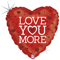"Valentine Grabo 18"" Love You More Foil Balloon"
