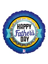 """Father's Day Bottle Cap 18"""" Foil Balloon"""