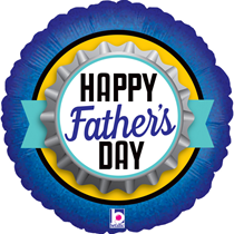 """Happy Father's Day Bottle Cap 18"""" Foil Balloon"""