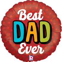 """Father's Day Best Dad Ever 18"""" Foil Balloon"""