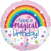 """Magical Birthday Rainbow 18"""" Foil Balloon"""