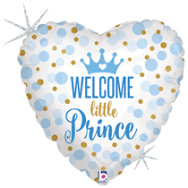 """Holographic Little Prince 18"""" Heart Foil Balloon"""