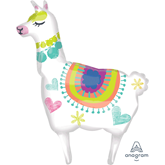 Llama Supershape Foil Balloon