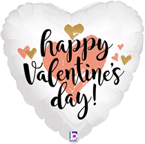 "Rose Gold Valentine's 18"" Heart Foil Balloon"