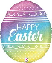"Happy Easter Pastel Rainbow 18"" Foil Balloon"