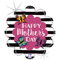 """Happy Mother's Day Radiant Butterfly 18"""" Foil Balloon"""