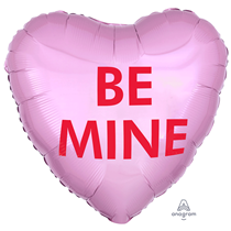 """Valentine's Be Mine Candy 18"""" Heart Foil Balloon"""
