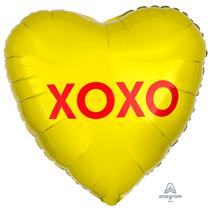 "Valentine's XOXO Candy 18"" Heart Foil Balloon"
