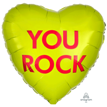 """Valentine's You Rock Candy 18"""" Heart Foil Balloon"""