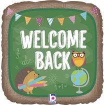 """Welcome Back School Chalkboard 18"""" Foil Balloon"""