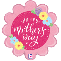 """Happy Mother's Day Pastel Floral 18"""" Foil Balloon"""