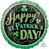"Happy St. Patrick's Day 18"" Foil Balloon"