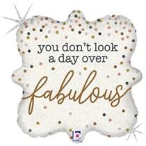 "Day Over Fabulous Birthday 18"" Foil Balloon"