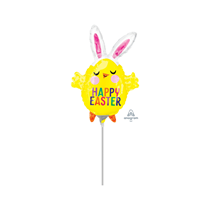 Easter Chick With Bunny Ears Mini Shape Foil Balloon