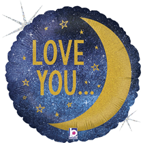 """Love You To The Moon & Back 18"""" Foil Balloon"""