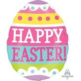 "Happy Easter Egg 16"" Shaped Foil Balloon"