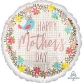 "Happy Mother's Day Pretty Bird 18"" Foil Balloon"