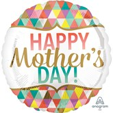 """Mother's Day Geometric 18"""" Foil Balloon"""