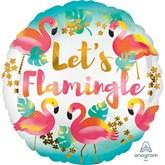 "Let's Flamingle 18"" Foil Balloon"