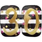 Pink & Gold 30th Birthday SuperShape Balloon