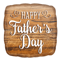 """Wooden Sign Father's Day 18"""" Square Foil Balloon"""
