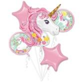 Magical Unicorn 5pce Foil Balloon Bouquet