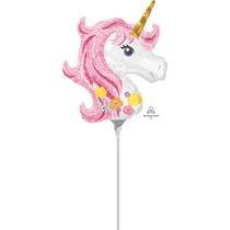 Pastel Unicorn Mini Shape Foil Balloon