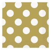 Gold Polka Dots Beverage Napkins 16pk