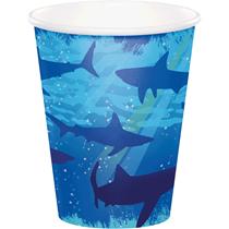 Shark Splash Party Paper Cups 8pk