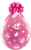 """Baby's Nursery 18"""" Latex Clear Stuffing Balloons 25pk"""