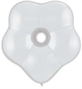 "16"" White GEO Blossom Latex Balloons 25pk"
