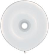 """16"""" White GEO Donut Latex Balloons 25pk"""