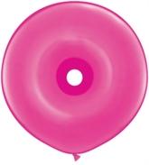 """16"""" Wild Berry GEO Donut Latex Balloons 25pk"""