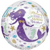 "Mermaid Wishes 16"" Orbz Foil Balloon"