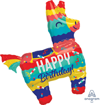 "Happy Birthday Pinata Party 33"" Foil Balloon"