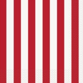 Red Stripes Luncheon Napkins - 16pk