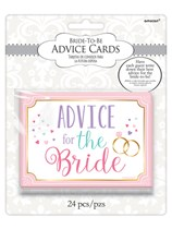 Bride to Be Advice Cards 24pk