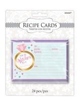 Wedding Shower Recipe Cards 24pk