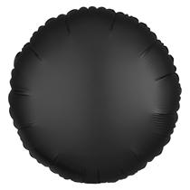 Satin Luxe Onyx Black Circle Foil Balloon