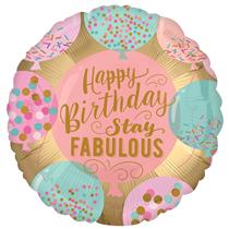 "Stay Fabulous Satin Luxe 18"" Foil Balloon"