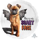 "Halloween Puppy Scary Face 18"" Foil Balloon"